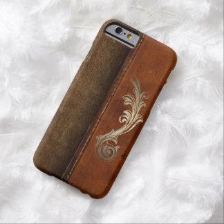 Ensille para arriba la imitación de cuero del funda barely there iPhone 6