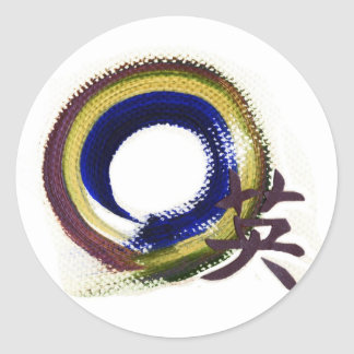 Enso - Aperature of Courage Round Sticker