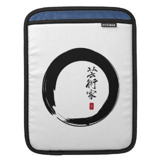 Enso Circle and Artist Calligraphy Sleeve For iPads