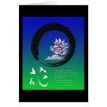 Enso circle and Zen wisdom by Ryokan Greeting Cards