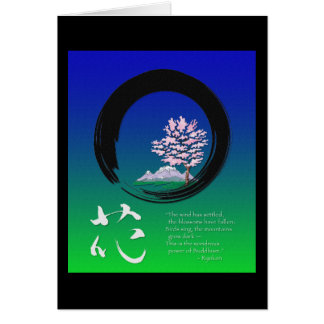 Enso circle and Zen wisdom by Ryokan Greeting Card