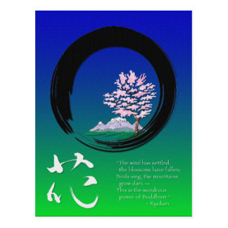 Enso circle and Zen wisdom by Ryokan Postcard