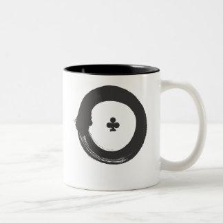 enso circle - club Two-Tone coffee mug