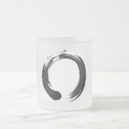 Enso Circle Frosted 10 oz Frosted Glass Mug