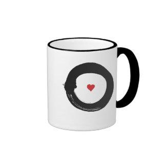 enso circle-heart (red & blk) mug