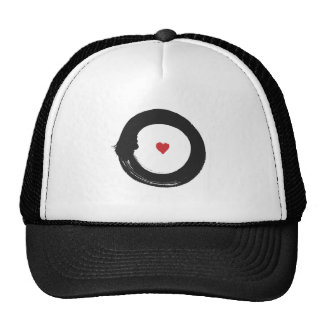 enso circle-heart (red & blk) trucker hat