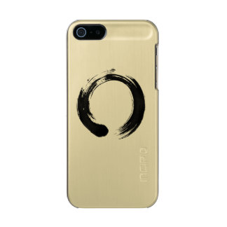 Enso Circle iPhone 5/5s Feather® Shine, Gold Metallic Phone Case For iPhone SE/5/5s