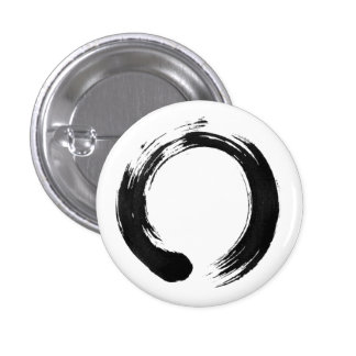 Enso Circle Small, 1¼ Inch Round Button
