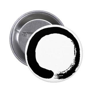 Enso Circle Zen Calligraphy Button