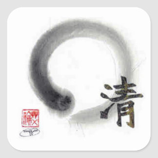 Enso, Clarity within Life's Veil Square Sticker
