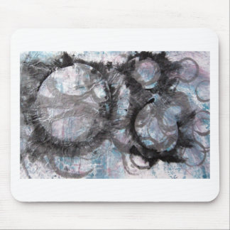 Enso Collage - mixed media Mouse Pad