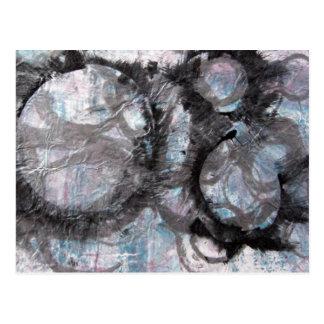Enso Collage - mixed media Postcard