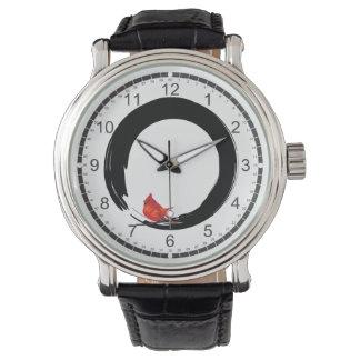 Enso con el navidad cardinal reloj de mano