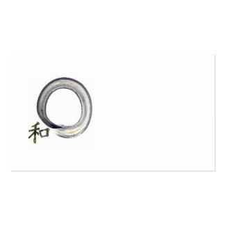 Enso de plata con el carácter de kanji para la arm tarjetas de visita
