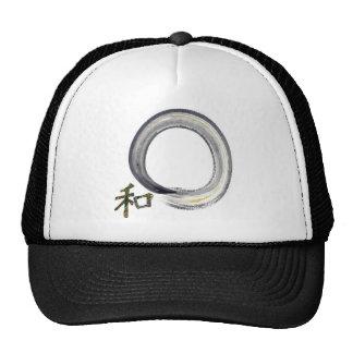 Enso de plata con el kanji - armonía gorra