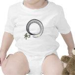 Enso de plata con el kanji - armonía traje de bebé