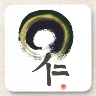 Enso - Kanji for benevolence Beverage Coaster