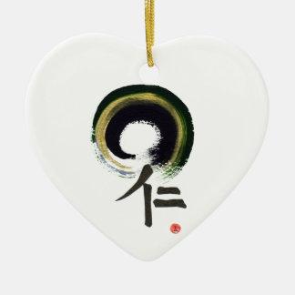 Enso - Kanji for benevolence Ceramic Ornament