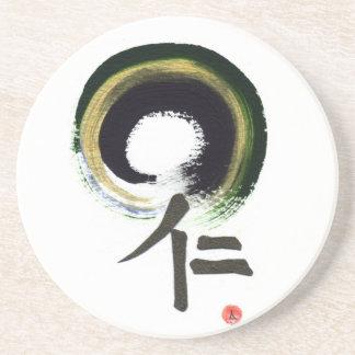 Enso - Kanji for benevolence Drink Coaster