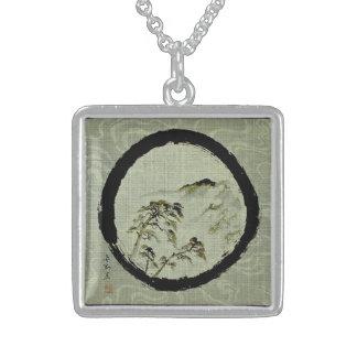 Enso Landscape Sterling Silver Necklace,