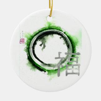 Enso Silver Blessings Ceramic Ornament