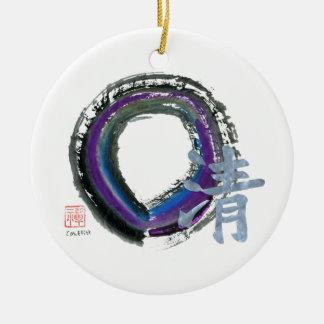 Enso, Silver Clarity Ceramic Ornament