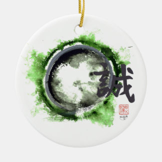Enso, Sincerity Within Ceramic Ornament