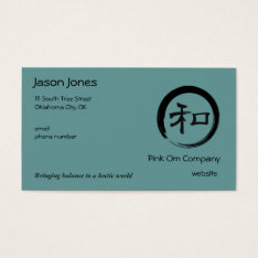 Enso Symbol With Harmony Symbol Business Card at Zazzle