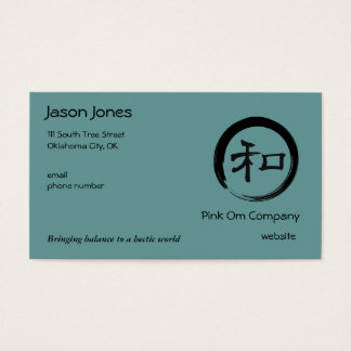 Enso Symbol with Harmony Symbol Business Card