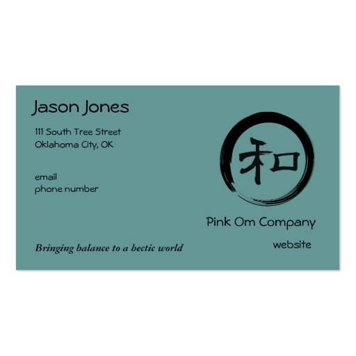 Enso Symbol with Harmony Symbol Business Cards