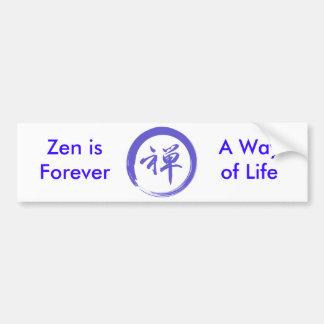 Enso Symbol with Zen Symbol Car Bumper Sticker