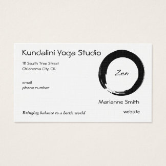 Enso Symbol with Zen Symbol Business Card