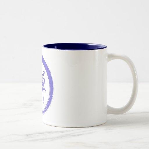 Enso Symbol with Zen Symbol Two-Tone Coffee Mug