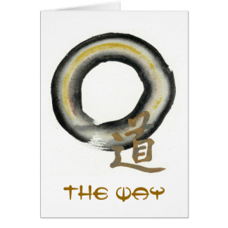 Enso. The Way in Earth Tones Card