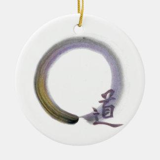 Enso - The Way [in purple] Ceramic Ornament