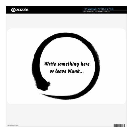 Enso zen circle black MacBook skin