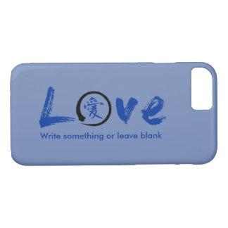 Enso zen circle | Blue Japanese symbol for love iPhone 7 Case
