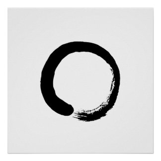 Ensō Zen Circle Calligraphy Poster