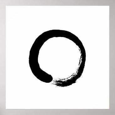 thecoffeeart Ensō Zen Circle Calligraphy Poster