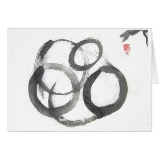 Enso Zen Circle Ink Design Blank Card