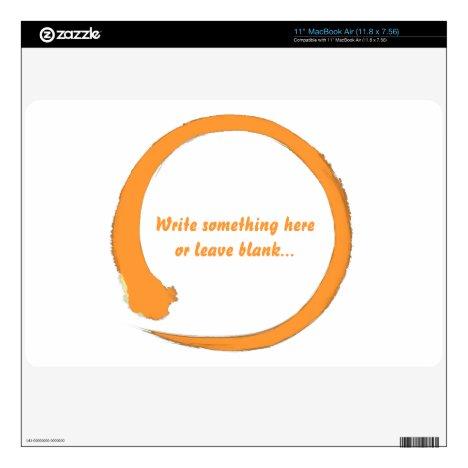 Enso zen circle orange skin for the MacBook