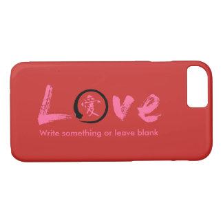 Enso zen circle | Pink Japanese symbol for love iPhone 7 Case