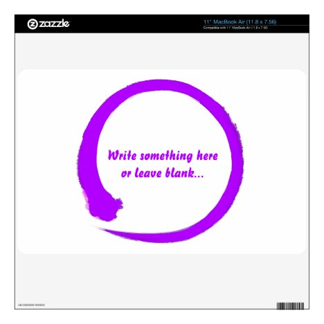 Enso zen circle purple skins for the MacBook air