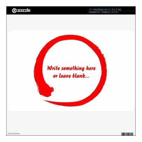 Enso zen circle red skin for MacBook