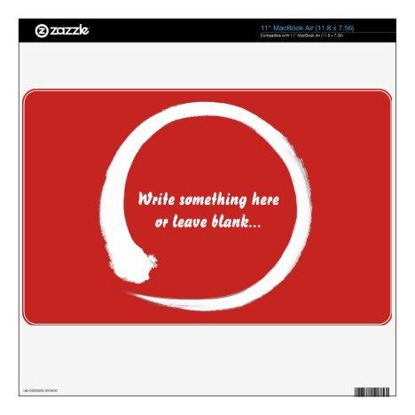 Enso zen circle white skins for MacBook air