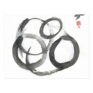 Enso Zen Circles Art Postcard