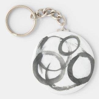 Enso Zen Circles Keychain