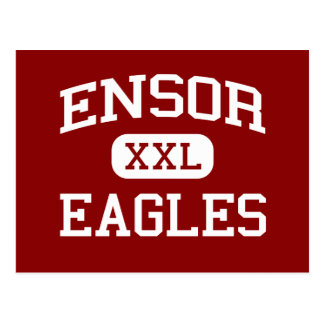 Ensor - Eagles - Middle School - El Paso Texas Postcard