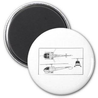 Enstrom-F28 2 Inch Round Magnet