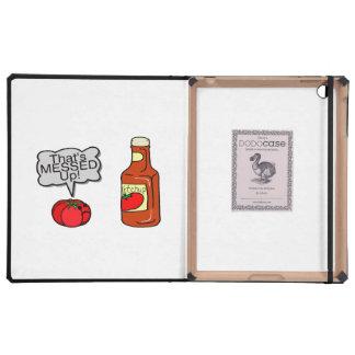 Ensuciada salsa de tomate